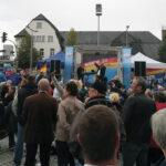 Veranstaltung der AfD auf dem Sonneberger Marktplatz